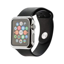 Чехол пластиковый COTEetCI Soft case для Apple Watch Series 3/ 2 (CS7031-TS) 42мм Серебристый