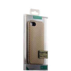 Накладка (карбон) ультра-тонкая Phantom series (HYOIP7-GLD) для iPhone 8/ 7 (4.7) Золотистая