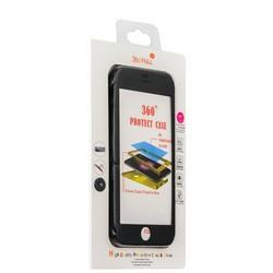 Чехол противоударный 360 Protect Case & 9H Tempered Glass для iPhone 8/ 7 (4.7) Black - Черный