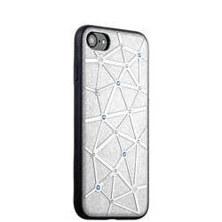 Чехол-накладка силиконовый COTEetCI Star Diamond Case для iPhone SE (2020г.)/ 8/ 7 (4.7) CS7032-TS Серебристый