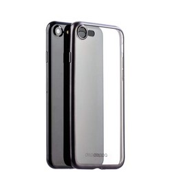 Чехол-накладка силикон Deppa Gel Plus Case D-85281 для iPhone 8/ 7 (4.7) 0.9мм Черный матовый борт