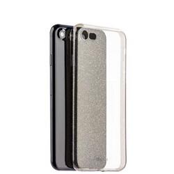 Чехол-накладка силикон Deppa Chic Case с блестками D-85298 для iPhone SE (2020г.)/ 8/ 7 (4.7) 0.8мм Черный