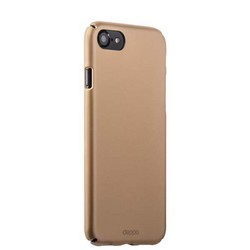 Чехол-накладка пластик Soft touch Deppa Air Case D-83270 для iPhone 8/ 7 (4.7) 1мм Золотистый