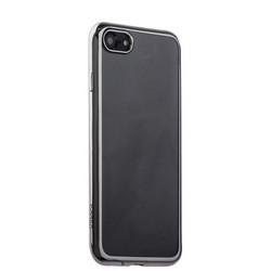 Чехол-накладка силикон Deppa Gel Plus Case D-85254 для iPhone 8/ 7 (4.7) 0.9мм Серебристый глянцевый борт