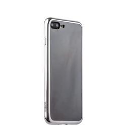 Чехол-накладка силикон Deppa Gel Plus Case D-85259 для iPhone 8 Plus/ 7 Plus (5.5) 0.9мм Серебристый глянцевый борт