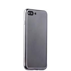 Чехол-накладка силикон Deppa Gel Plus Case D-85260 для iPhone 8 Plus/ 7 Plus (5.5) 0.9мм Графитовый глянцевый борт