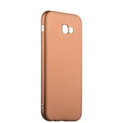 Чехол-накладка силиконовый J-case Delicate Series Matt 0.5mm для Samsung Galaxy A7 (2017) Розовое золото