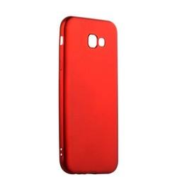 Чехол-накладка силиконовый J-case Delicate Series Matt 0.5mm для Samsung Galaxy A7 (2017) Красный