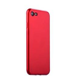 """Чехол-накладка силиконовый J-case Shiny Glazed Series 0.5mm для iPhone 8/ 7 (4.7"""") Jet Red Красный"""