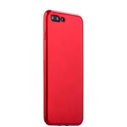 """Чехол-накладка силиконовый J-case Shiny Glazed Series 0.5mm для iPhone 8 Plus/ 7 Plus (5.5"""") Jet Red Красный"""