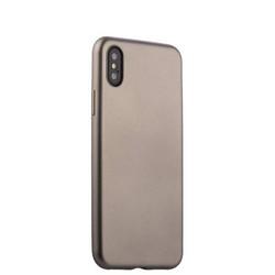 """Чехол-накладка силиконовый J-case Delicate Series Matt 0.5mm для iPhone XS/ X (5.8"""") Графитовый"""