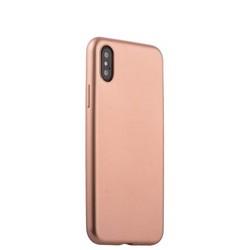 "Чехол-накладка силиконовый J-case Delicate Series Matt 0.5mm для iPhone XS/ X (5.8"") Розовое золото"