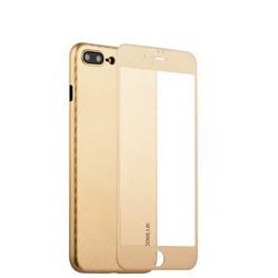 """Чехол-накладка карбоновая Coblue 4D Glass & Carbon Case (2в1) для iPhone 8 Plus/ 7 Plus (5.5"""") Золотистый"""