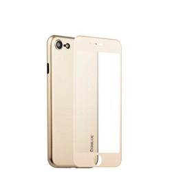 Чехол-накладка супертонкая Coblue Slim Series PP Case & Glass (2в1) для iPhone SE (2020г.)/ 8/ 7 (4.7) Золотистый