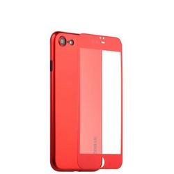 Чехол-накладка супертонкая Coblue Slim Series PP Case & Glass (2в1) для iPhone 8/ 7 (4.7) Красный
