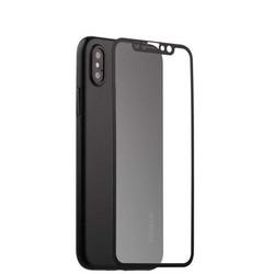 """Чехол-накладка супертонкая Coblue Slim Series PP Case & Glass (2в1) для iPhone XS/ X (5.8"""") Черный"""