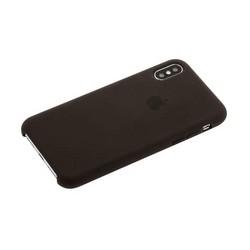 "Чехол-накладка силиконовый Silicone Case для iPhone XS/ X (5.8"") Cacao Какао №22"