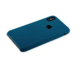 """Чехол-накладка силиконовый Silicone Case для iPhone XS/ X (5.8"""") Cosmos Blue Аспидно-серый №35"""