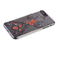 """Чехол-накладка KINGXBAR для iPhone 8 Plus/ 7 Plus (5.5"""") пластик со стразами Swarovski 49F черный (Феникс)"""