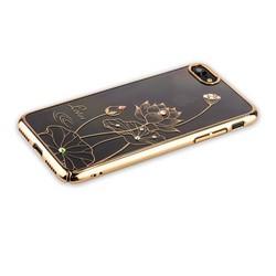 "Чехол-накладка KINGXBAR для iPhone 8/ 7 (4.7"") пластик со стразами Swarovski 49F золотистый (Лотос)"