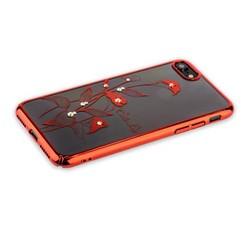 "Чехол-накладка KINGXBAR для iPhone 8/ 7 (4.7"") пластик со стразами Swarovski 49F красный (Калла)"