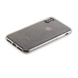 "Чехол-накладка силикон Deppa Chic Case с блестками D-85339 для iPhone XS/ X (5.8"") 0.8мм Черный"