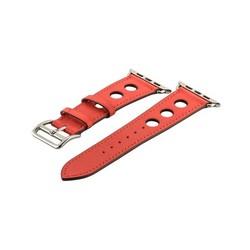 Ремешок кожаный COTEetCI W15 Fashion LEATHER с отверствиями (WH5220-RD-38) для Apple Watch 40мм/ 38мм Красный