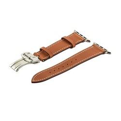 Ремешок кожаный COTEetCI W16 Fashion LEATHER застёжка «бабочка» (WH5223-KR-42) для Apple Watch 44мм/ 42мм Коричневый