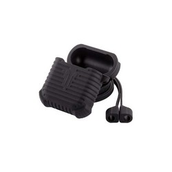 Чехол & гарнитура плоская силиконовые COTEetCI для AirPods CS8108-BK Suit Черный