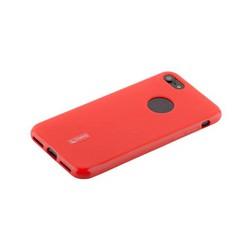 Чехол-накладка силиконовый Cherry матовый 0.4mm & пленка для iPhone 8/ 7 (4.7) Красный