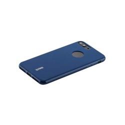 """Чехол-накладка силиконовый Cherry матовый 0.4mm & пленка для iPhone 8 Plus/ 7 Plus (5.5"""") Синий"""