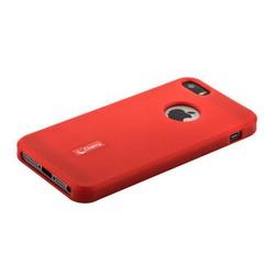 """Чехол-накладка силиконовый Cherry матовый 0.4mm & пленка для iPhone SE/ 5S/ 5 (4.0"""") Красный"""
