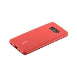 Чехол-накладка силиконовый Cherry матовый 0.4mm & пленка для Samsung Galaxy S8 Plus Красный