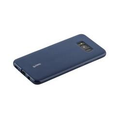 Чехол-накладка силиконовый Cherry матовый 0.4mm & пленка для Samsung Galaxy S8 Plus Синий
