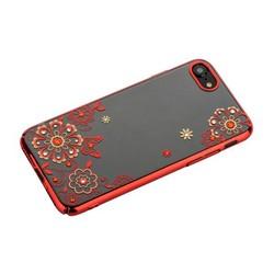 """Чехол-накладка KINGXBAR для iPhone 8/ 7 (4.7"""") пластик со стразами Swarovski 01C красный (Сновидение)"""