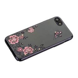 """Чехол-накладка KINGXBAR для iPhone 8/ 7 (4.7"""") пластик со стразами Swarovski 01C черный (Ванильное небо)"""