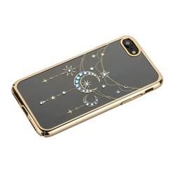 """Чехол-накладка KINGXBAR для iPhone 8/ 7 (4.7"""") пластик со стразами Swarovski 49C золотистый (Полумесяц со Звездой)"""