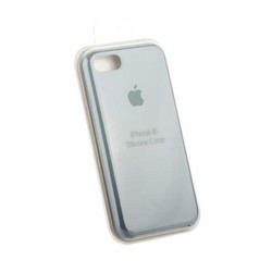 Чехол-накладка силиконовый Silicone Case для iPhone 8/ 7 (4.7) Mist Blue Синий туман №24