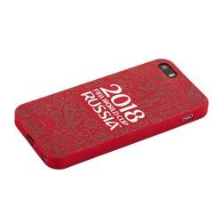 """Чехол-накладка TPU Deppa D-103856 ЧМ по футболу FIFA™ Official Logotype для iPhone SE/ 5S/ 5 (4.0"""") Красный"""