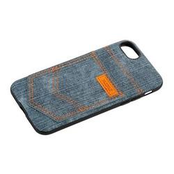 """Чехол-накладка XOOMZ для iPhone 8/ 7 (4.7"""") Pocket PU Back Cover (XI719) джинсовый Зеленый"""