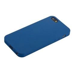 "Чехол-накладка силикон Anycase TPU A-140020 для iPhone SE/ 5S/ 5 (4.0"") 1.0 мм матовый Синий"