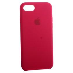 Чехол-накладка силиконовый Silicone Case для iPhone 8/ 7 (4.7) Rose Red Малиновый №30