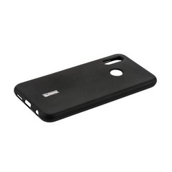 """Чехол-накладка силиконовый Cherry матовый 0.4mm & пленка для HUAWEI P20 Lite (5.84"""") Черный"""