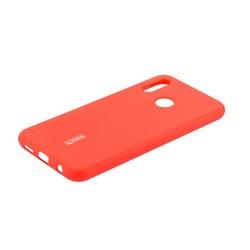 """Чехол-накладка силиконовый Cherry матовый 0.4mm & пленка для HUAWEI P20 Lite (5.84"""") Красный"""