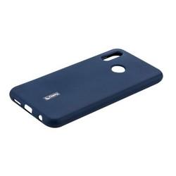 """Чехол-накладка силиконовый Cherry матовый 0.4mm & пленка для HUAWEI P20 Lite (5.84"""") Синий"""