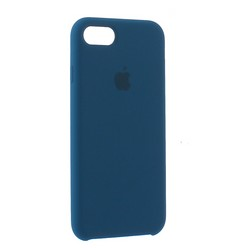 Чехол-накладка силиконовый Silicone Case для iPhone 8/ 7 (4.7) Cosmos Blue Аспидно-серый №35