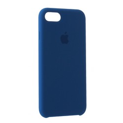 Чехол-накладка силиконовый Silicone Case для iPhone 8/ 7 (4.7) Blue Cobalt Темный кобальт №29