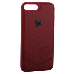 "Накладка PULOKA для iPhone 8 Plus/ 7 Plus (5.5"") PC+TPU волны Красная"