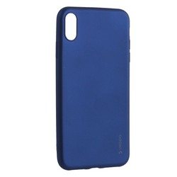 "Чехол-накладка Deppa Case Silk TPU Soft touch D-89037 для iPhone XS Max (6.5"") 1мм Синий металик"
