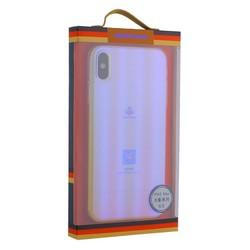 """Чехол-накладка пластиковый Meephone 0.5mm для iPhone XS Max (6.5"""") Q/MFXD 001 Золотисто-фиолетовый оттенок"""
